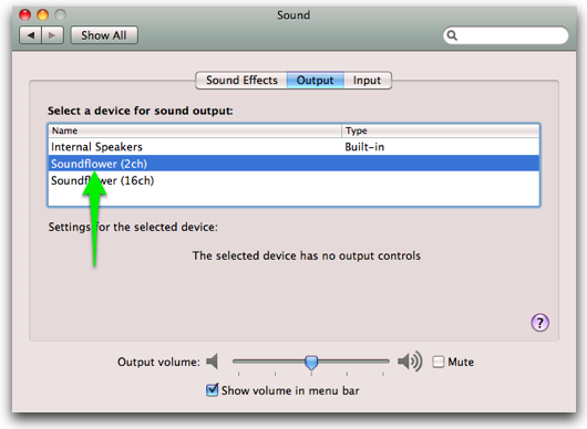 How to verify Soundflower setup – shinywhitebox help