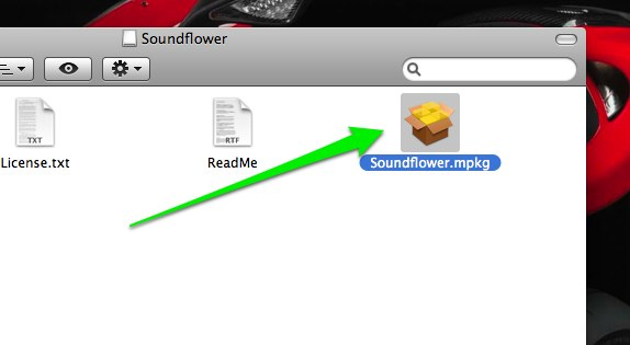 Soundflower run installer