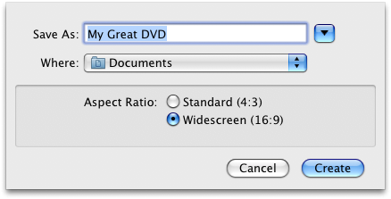 Choosing the right aspect ratio in iDVD